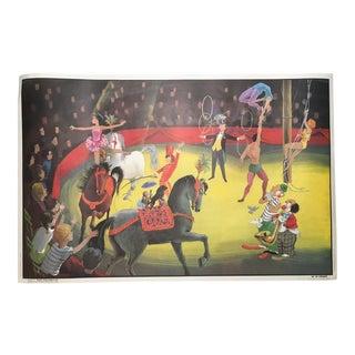 "Vintage French School ""Le Cirque/La Chambre d'Enfant"" Two-Sided Poster"
