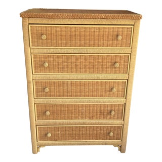 Henry Link Mid-Century Wicker Chest of Drawers