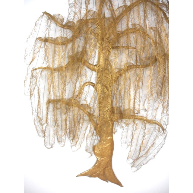 Hollywood Regency Monumental Gold Metal Tree Wall Art Sculpture For Sale - Image 3 of 8