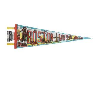 Vintage Boston Mass Felt Flag Pennant