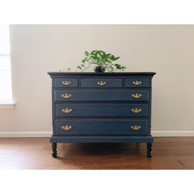 1960s 1960s Traditional Navy Dresser For Sale - Image 5 of 13