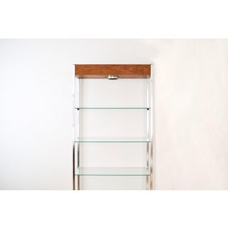 Mid-Century Glass & Wood Lighted Etagere Preview