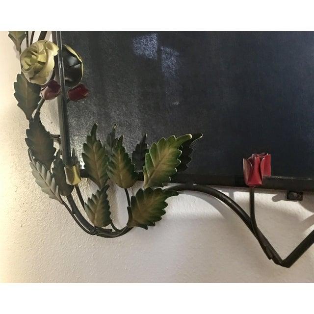Bronze Framed Rose & Vine Mirror - Image 7 of 10
