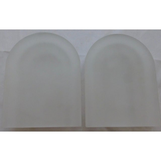 Lucite Vintage Frosted Lucite Bookends - A Pair For Sale - Image 7 of 8