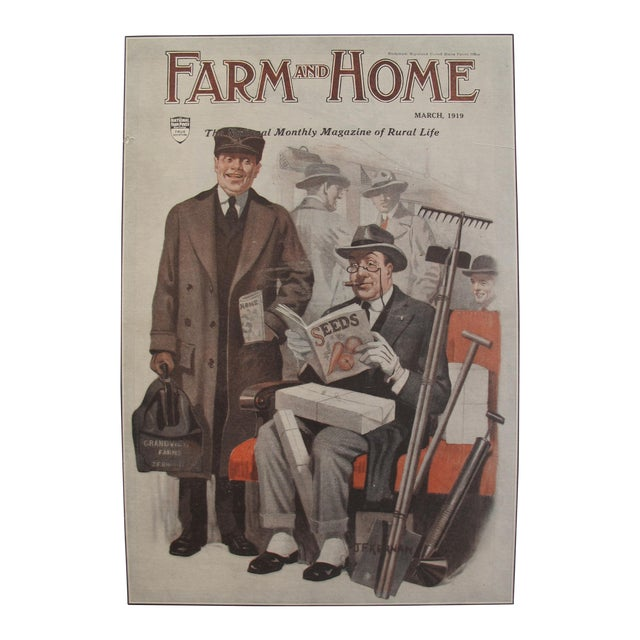 1919 Original Vintage Farm and Home Magazine Cover, March Edition - J.F Kernan - Image 1 of 6