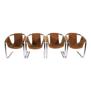 1970s Vintage Zermatt Sling Chairs - Set of 4 For Sale