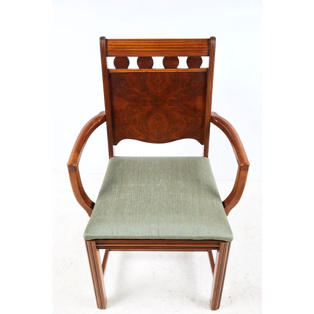 Art Deco Burl Walnut Side Chair For Sale - Image 11 of 13