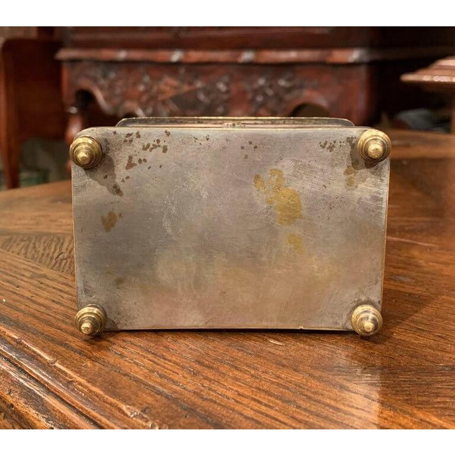 19th Century French Silver Plated on Copper Jewelry Box With Repoussé Hunt Motif For Sale In Dallas - Image 6 of 7
