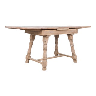1950s Belgian Pull Leaf Dining Table For Sale