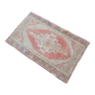 Hand Knotted Door Mat, Entryway Rug, Bath Mat, Kitchen Decor, Small Rug, Turkish Rug - 1′10″ × 2′11″ For Sale