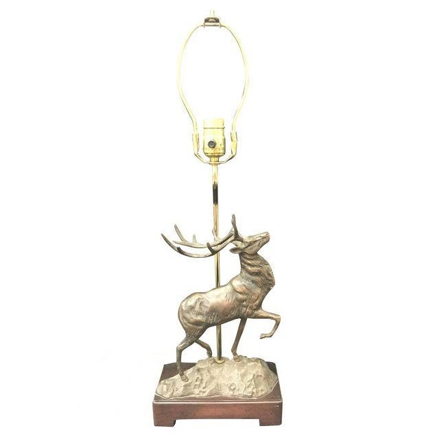 Vintage Bronze Stag Table Lamp - Image 1 of 6