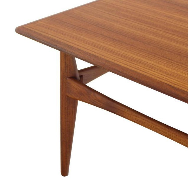 Danish Mid-Century Modern Teak Square Coffee Side Table For Sale - Image 4 of 8