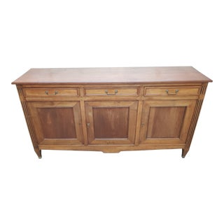 1900s French Provincial Walnut Sideboard/Buffet For Sale