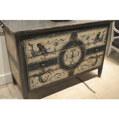 Antique Chest With New Paint From Spain For Sale - Image 9 of 13