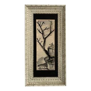Vintage Framed Japanese Tree For Sale