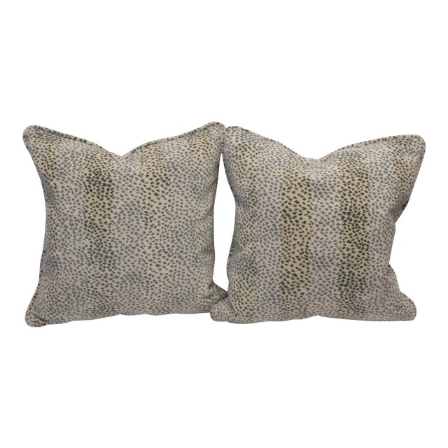 Colefax & Fowler Fabric Pillows - a Pair For Sale