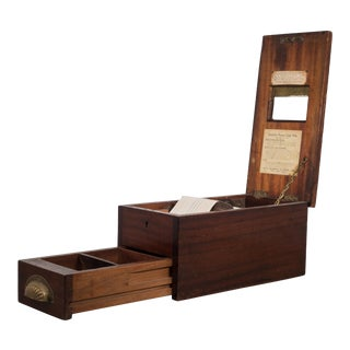Antique Mahogany and Brass Cash Till C. 1890 For Sale