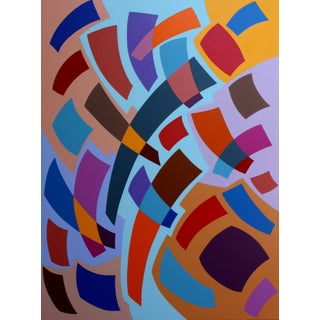 """""""Venture"""" Contemporary Geometric Hard Edge Acrylic Painting by Sassoon Kosian For Sale"""