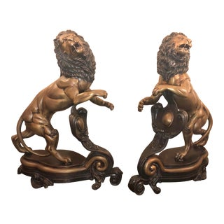 19th Century French Lions - a Pair For Sale