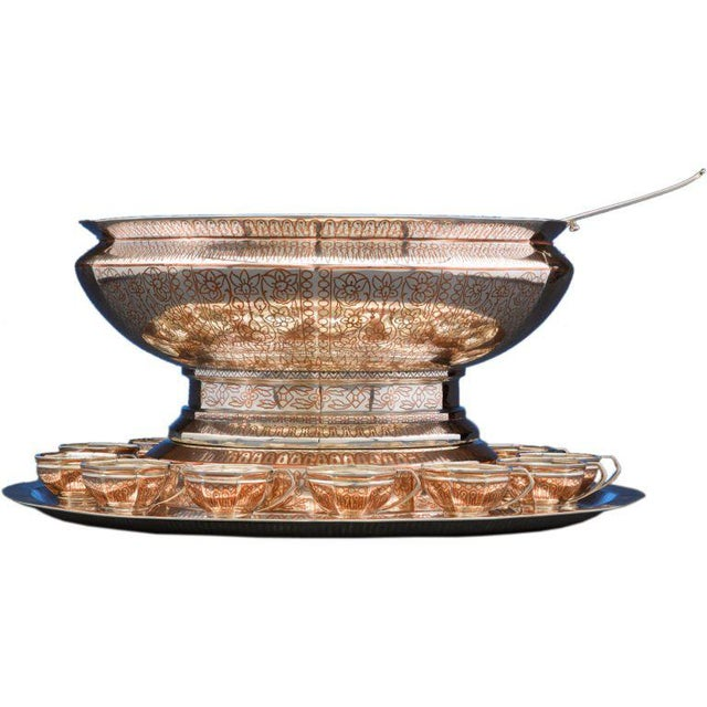 Transparent Tiffany & Co, Copper Inlaid Silver Punch Service For Sale - Image 8 of 8