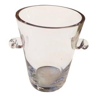 Heavy Blown Glass Ice Bucket