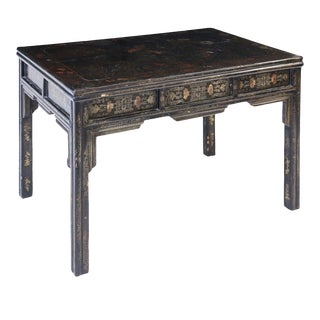 Antique Chinese Black Lacquer Table For Sale