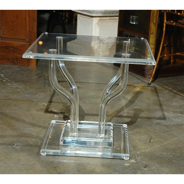 Lucite Occasional Table - Image 4 of 7