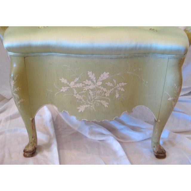 Pale Green Painted Victorian Armchair - Image 3 of 7