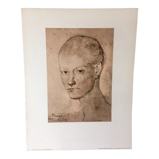 "1970s Pablo Picasso ""Head of a Boy"" Rare Art Lithograph For Sale"