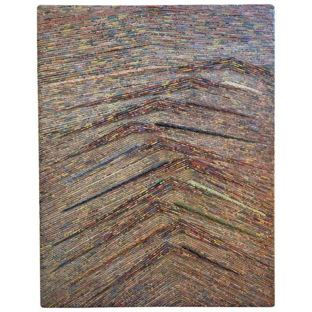 Rope and Acrylic on Wood Abstract Painting by Patrick Hogan For Sale - Image 9 of 9