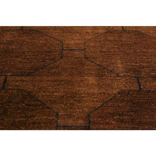 Overdyed Color Reform Donnie Brown/Blue Area Rug - 5'11 X 8'6 For Sale In New York - Image 6 of 8