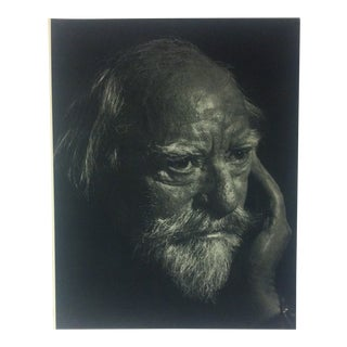 "Black & White Print on Paper, ""Augustus John"" by Yousuf Karsh, 1967 For Sale"