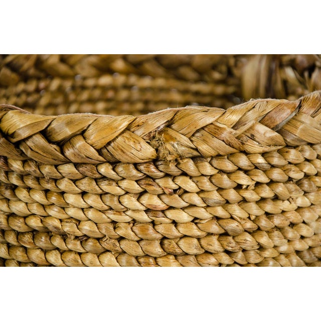 Woven Seagrass Handled Basket For Sale In Atlanta - Image 6 of 8