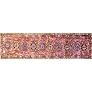 Vintage Persian Karaja Runner Rug - 3′3″ × 14′