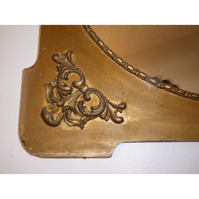 Antique Victorian Style Gold Gilt Floral Carved Wood Wall Mirror For Sale In Los Angeles - Image 6 of 11
