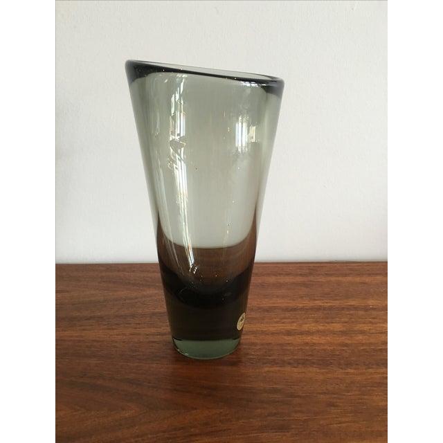 Vintage Holmegaard Per Lutken Gray Vase - Image 4 of 4