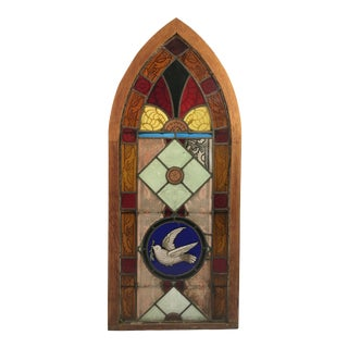 Antique Church Stained Glass Window For Sale