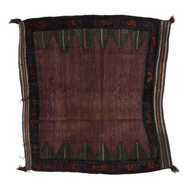 "Vintage Afghan Saddle Bag - 4'3"" x 4'8"" - Image 1 of 5"