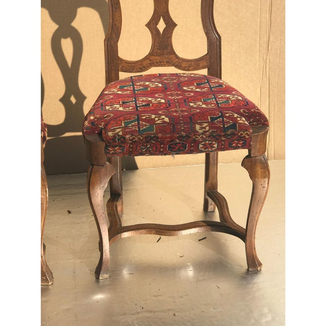 English Traditional 19th Century Continental Side Chairs - A Pair For Sale - Image 3 of 6