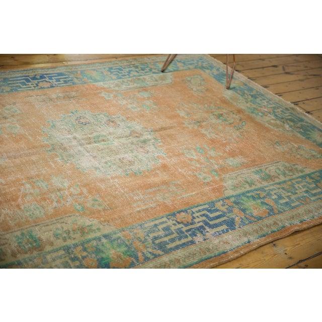 "Vintage Distressed Oushak Carpet - 6'2"" X 9'8"" For Sale - Image 12 of 13"