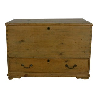 English Pine Blanket Box/Mule Chest For Sale