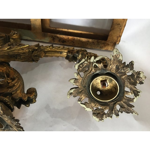 Ornate Bronze Wall Sconces - A Pair - Image 10 of 11