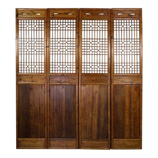 Chinese Antique Carved Wooden Panel Screen