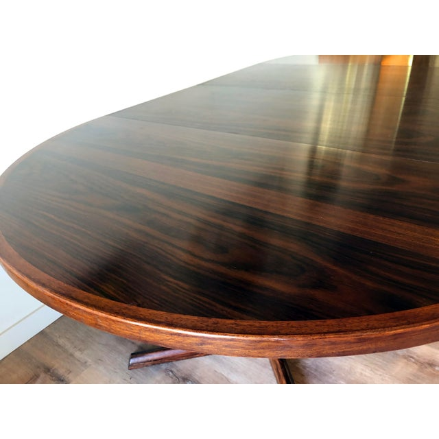 Gudme Gudme Mobelfabric Danish MCM Rosewood Dining Table With 2 Leaves For Sale - Image 4 of 13