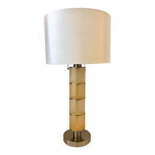 Two Tones Yellow Table Lamp by Van Teal For Sale