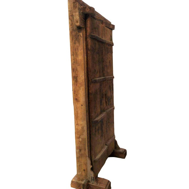 Mid 19th Century Mid-19th Century Antique Asian Wood Door For Sale - Image 5 of 7