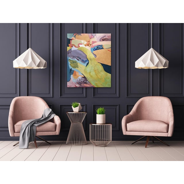 Rhapsody Abstract Contemporary Painting Size: 27.6 W x 35.4 H x 1.2 in