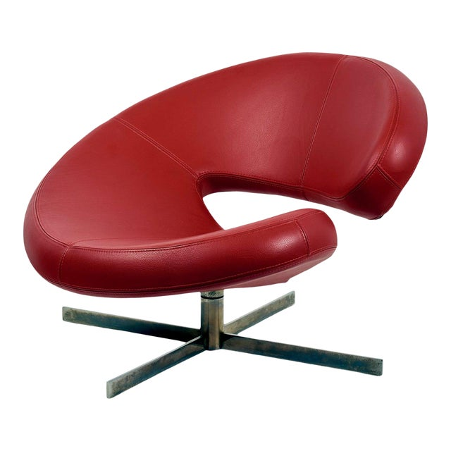 "Swivel Chair ""Nuage"" by Robert Tapinassi With Maurizio Manzoni for Roche Bobois For Sale"