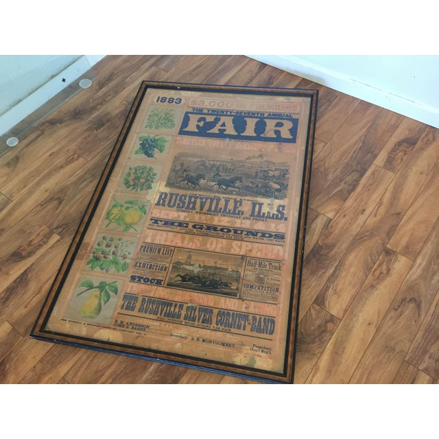 Morgan Printing Co. 1883 County Fair Poster - Image 3 of 11