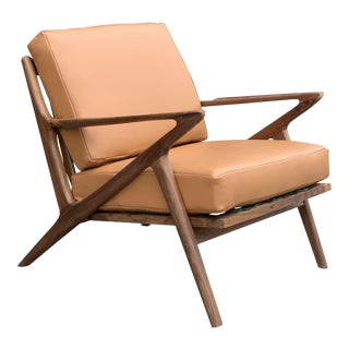 Contemporary Mid Century Style Z Chair - Custom Made For Sale